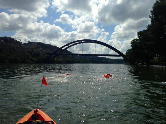 Got2Swim 11K - Close to Finish at Pennybacker Bridge